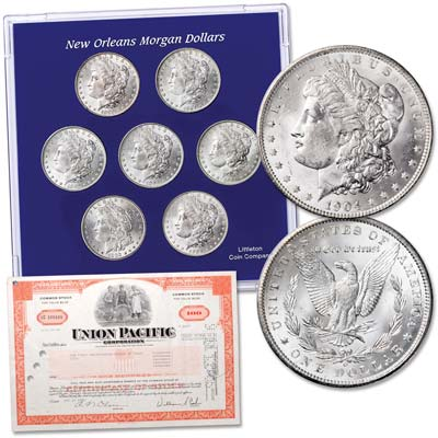 "Image for 1883-1904 ""O"" Mint Morgan Silver Dollar Set with Free Gift from Littleton Coin Company"
