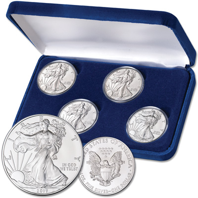 Image for Silver American Eagle Decade Set from Littleton Coin Company