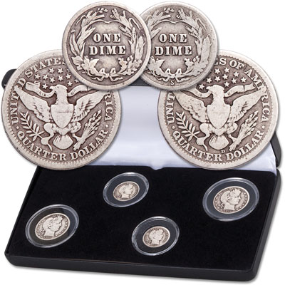 Image for 1916 Barber Dime and Quarter Set with Case from Littleton Coin Company