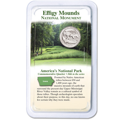 2017 Effigy Mounds National Monument Quarter In Showpak Littleton