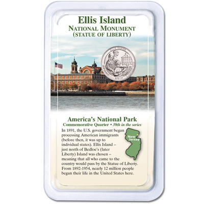 Image for 2017 Ellis Island National Monument (Statue of Liberty) Quarter in Showpak from Littleton Coin Company