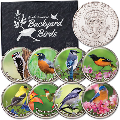 Image for Birds of America Colorized Kennedy Half Dollar Set from Littleton Coin Company
