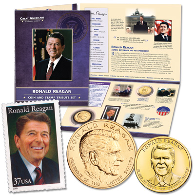 Image for Reagan Coin and Stamp Set from Littleton Coin Company