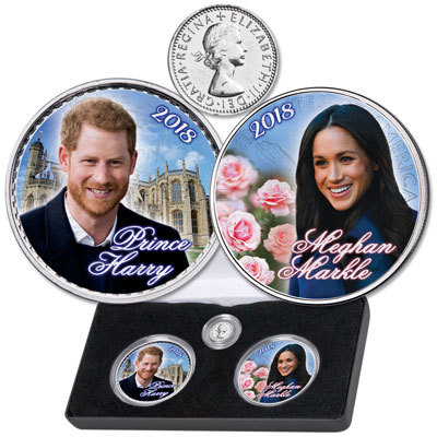Image for 2018 Colorized Royal Wedding Set from Littleton Coin Company