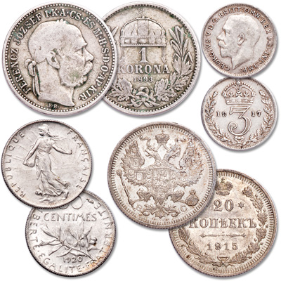 Image for 1867-1920 World War I Silver Coin Set from Littleton Coin Company