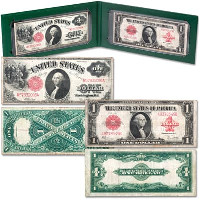 Image for 1917 & 1923 Large-Size $1 Legal Tender Note Set from Littleton Coin Company