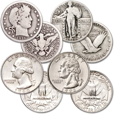 Image for 1916-1998 Last-Year-of-Issue Quarter Set from Littleton Coin Company