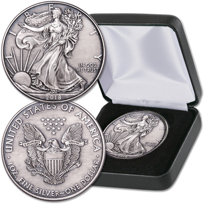 Image for 2018 Antique Finish $1 Silver American Eagle from Littleton Coin Company