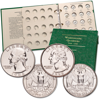 Image for 1984-1998 P&D Washington Quarter Set with Album from Littleton Coin Company