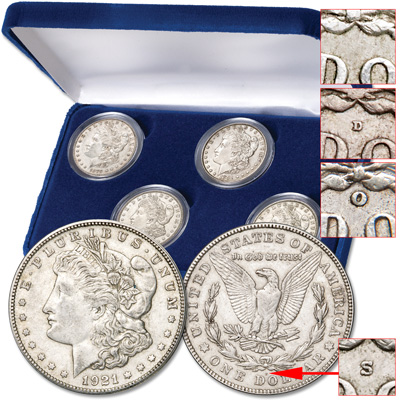 Image for 1878-1921 POSD Morgan Dollar Set from Littleton Coin Company