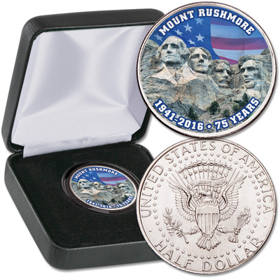 Image for 2016 Colorized Mount Rushmore Kennedy Half Dollar from Littleton Coin Company