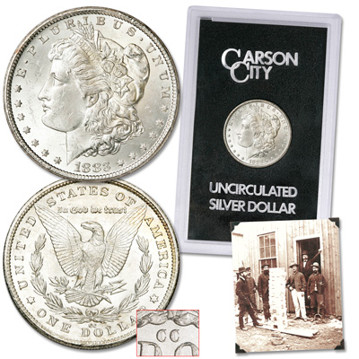 Image for 1883-CC Morgan Dollar with Stereoview Reprint from Littleton Coin Company