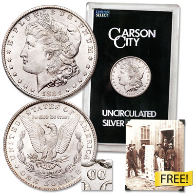 Image for 1884-CC Morgan Dollar in Government Holder from Littleton Coin Company