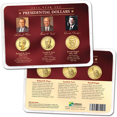 Image for 2016 Presidential Dollar Year Set in Showpak from Littleton Coin Company