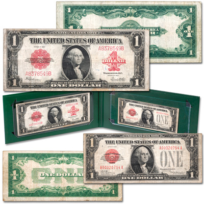 Image for 1923 Large- & 1928 Small-Size $1 Legal Tender Note Transition Set from Littleton Coin Company