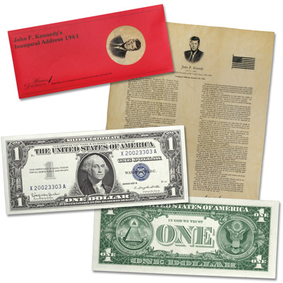 Image for 1957B $1 Silver Certificate with FREE JFK Reprint from Littleton Coin Company
