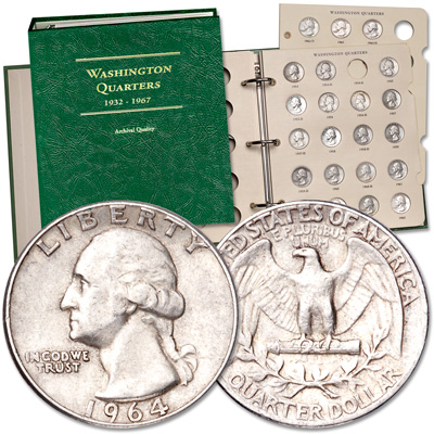 Image for 1954-1964 Complete P&D Silver Washington Quarter Set with Album from Littleton Coin Company