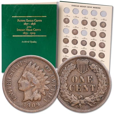 Image for 1887-1909 Indian Head Cent Set from Littleton Coin Company
