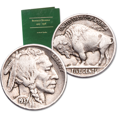 Image for 1920-1937 Buffalo Nickel Set with Folder from Littleton Coin Company