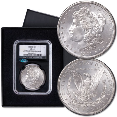 Image for 1881-S Morgan Silver Dollar, Mapes Casino Hoard from Littleton Coin Company