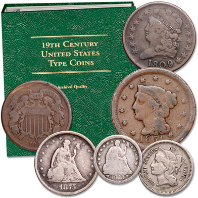 Image for 19th-Century Starter Set with Album from Littleton Coin Company