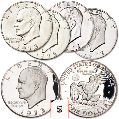 Image for 1973 Complete Eisenhower Dollar Set from Littleton Coin Company