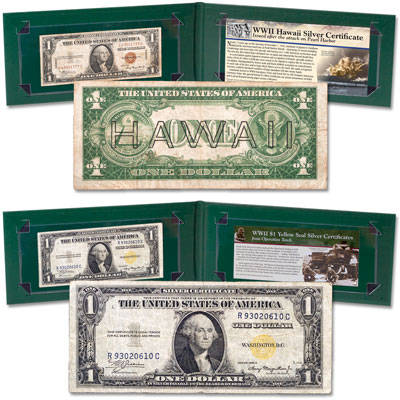 Image for 1935A WWII Hawaii & Yellow Seal Silver Certificate from Littleton Coin Company