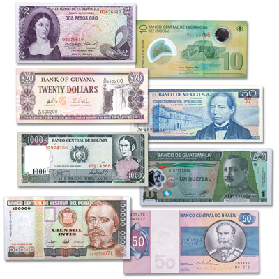Image for 1970-2012 Latin America Bank Note Set from Littleton Coin Company
