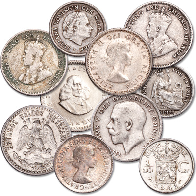 Image for Silver Coins from 10 Countries from Littleton Coin Company