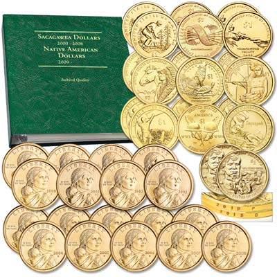 Image for 2000-2018 P&D Sacagawea Dollar Set with Album from Littleton Coin Company