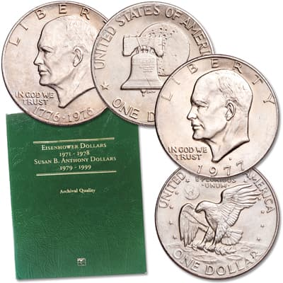 Image for 1971-1978 Eisenhower Dollar Set with Folder from Littleton Coin Company