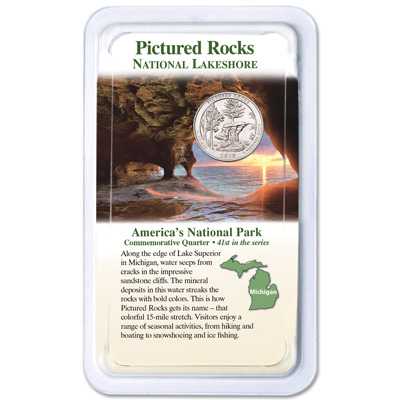 Image for 2018 Pictured Rocks National Lakeshore Quarter in Showpak from Littleton Coin Company