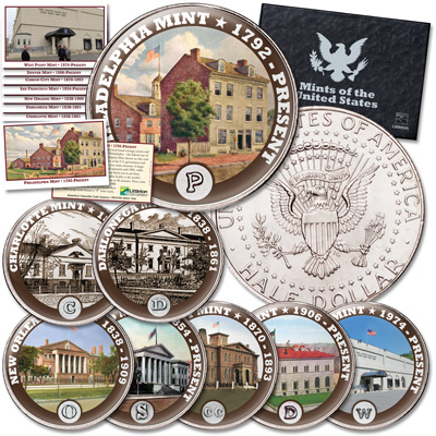 Image for Colorized U.S. Mints Kennedy Half Dollar Set from Littleton Coin Company
