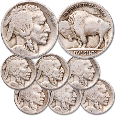 Image for 1913-1919 First Years Buffalo Nickel Set from Littleton Coin Company