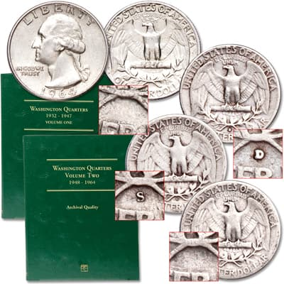 Image for 1935-1964 Washington Quarter Decade Set from Littleton Coin Company