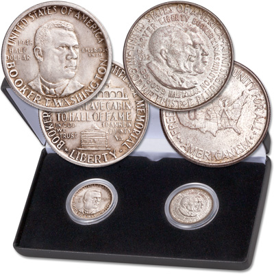 Image for 1946-1954 African American Commemorative Half Dollar Set from Littleton Coin Company