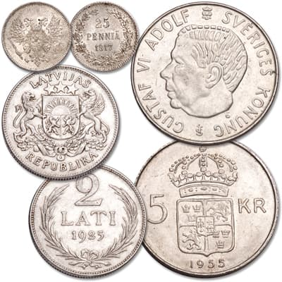 Image for 1917-1971 Baltic Region Silver Set from Littleton Coin Company