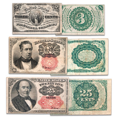 Image for 1862-1876 Fractional Note Set from Littleton Coin Company