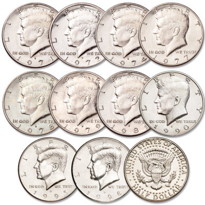 Image for 1971-1998 Kennedy Half Dollar Set from Littleton Coin Company