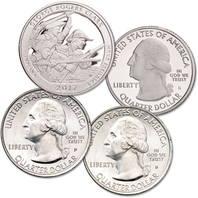 Image for 2017 PDS George Rogers Clark National Historical Park Quarter Set from Littleton Coin Company