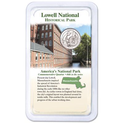 Image for 2019 Lowell National Historical Park Quarter in Showpak from Littleton Coin Company