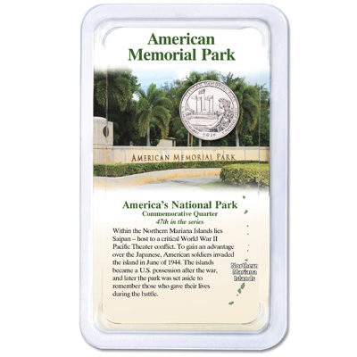 Image for 2019 American Memorial Park Quarter in Showpak from Littleton Coin Company