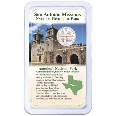 Image for 2019 San Antonio Missions National Historical Park Quarter in Showpak from Littleton Coin Company