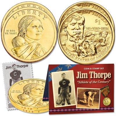 Image for 2018 Jim Thorpe Coin and Stamp Set from Littleton Coin Company