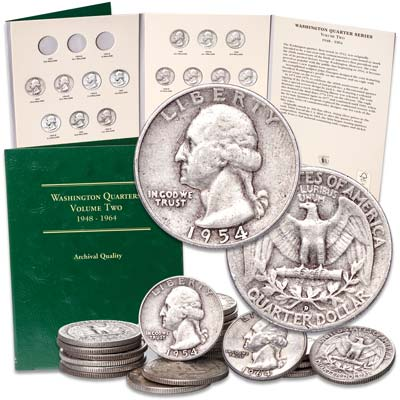 Image for 1954-1964 Complete Washington Quarter Set from Littleton Coin Company