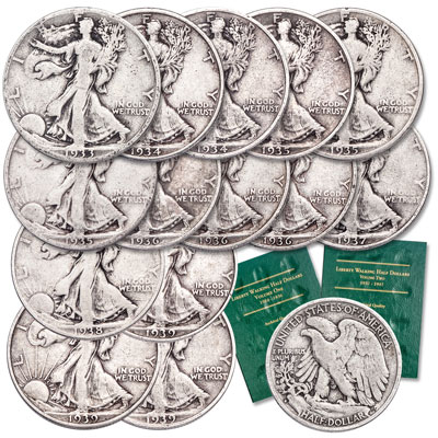 Image for 1933-1939 Liberty Walking Half Dollar Set with Folders from Littleton Coin Company