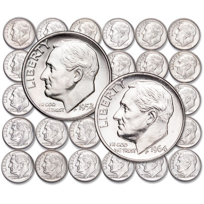 Image for 1952-1964 Complete Roosevelt Dime Set with Album from Littleton Coin Company