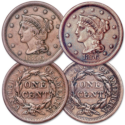 Image for 1856 Braided Hair Large Cent Set from Littleton Coin Company