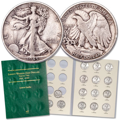 Image for 1941-1945 PDS Set of Liberty Walking Half Dollars from Littleton Coin Company