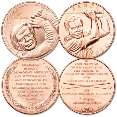 Image for Golf Congressional Bronze Medal Set from Littleton Coin Company